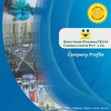SPECTRUM PHARMATECH CONSULTANTS - NEW COMPANY PROFILE