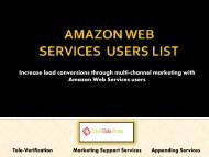 Verified List of Amazon Web Services Users and Customers