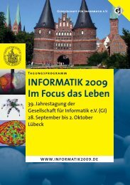 INFORMATIK 2009 Im Focus das Leben - Institut für Theoretische ...