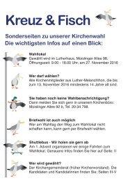 Kreuz & Fisch, Sonderausgabe Kirchenwahl 2016