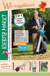 Kiebitzmarkt Werbung KMH Oktober 2016 inkl. Tiernahrung
