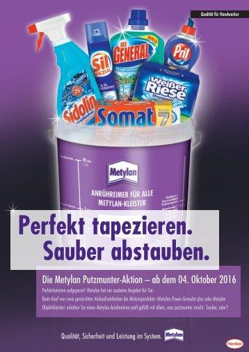 Metylan Putzmunter-Aktion 04.10. - solange der Vorrat reicht