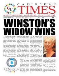 Caribbean Times 99th Issue - Friday 23rd September 2016