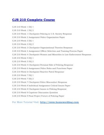 CJ 210: EXAM 3 REVIEW