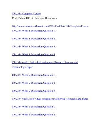 CJA 334 Complete Course,UOP CJA 334,UOP CJA 334 Entire Class,UOP CJA 334 Homework
