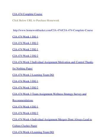 CJA 474 Uop courses/Uophelp Essay