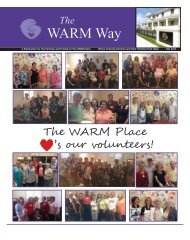 Check out our latest Newsletter! - The WARM Place