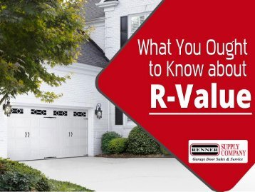 All about R-value of Garage Doors