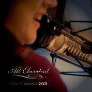 ANNuAl report 2011 - All Classical FM