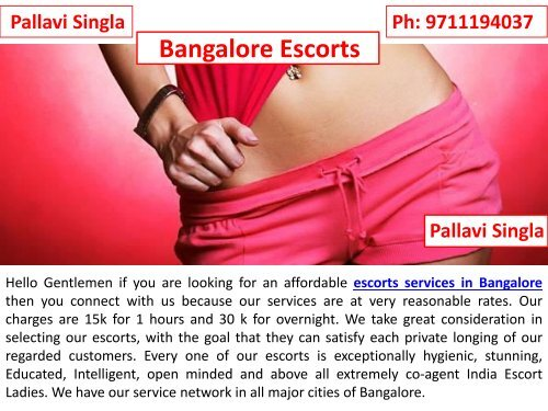 Extremely Lovable Escorts Services in Bangalore