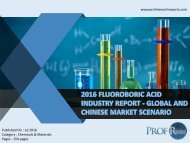 2016 FLUOROBORIC ACID INDUSTRY REPORT