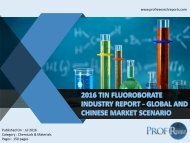 2016 TIN FLUOROBORATE INDUSTRY REPORT