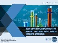 2016 ZINC FLUORIDE INDUSTRY REPORT