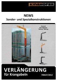 für Krangabeln verlängerung 700637/2012 neWS Sonder - Kinshofer