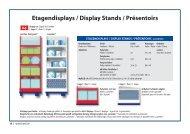 Etagendisplays / Display Stands / Présentoirs