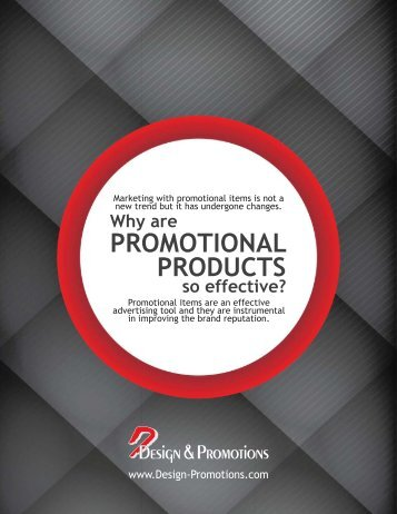 Design & Promotions - Why are promotional products so effective (E-Book)