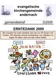 erntedank 2009 - Evangelische Kirche Andernach