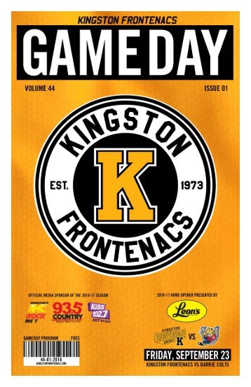 Kingston Frontenacs GameDay September 23, 2016