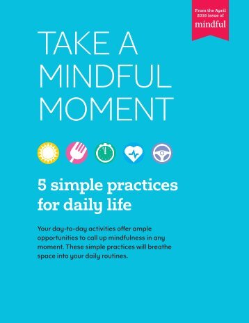 TAKE A MINDFUL MOMENT