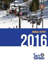 Sky Tavern - 2016 Annual Report