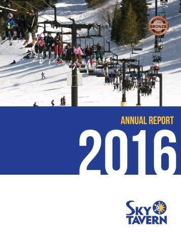 Sky Tavern - 2016 Annual Report
