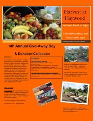 Harvest at Haywood