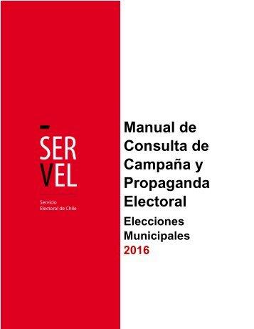 Manual de Consulta de Campaña y Propaganda Electoral