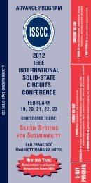 NEW THIS YEAR - International Solid-State Circuits Conference