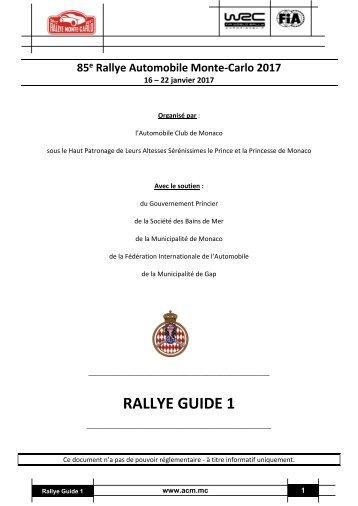 RALLYE GUIDE 1