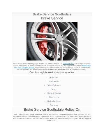 Brake Service Scottsdale