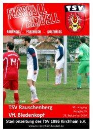25.09.2016 Stadionzeitung Biedenkopf/Rauschenberg