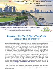 Singapore: The Top 5 Places You Would Certainly Like To Discover