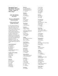 Directory of Marshfield's Retail