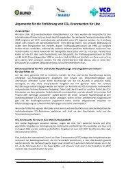 Argumente für die Einführung von CO -Grenzwerten für Lkw