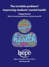 The invisible problem? Improving students' mental health