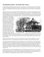The Kleinheinz Home - 301 South Cedar Avenue