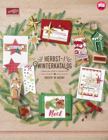 Stampin' Up! Herbst- Winterkatalog & Weihnachten 2016-2017 | Deutsch