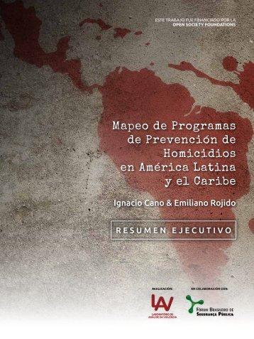 Mapeo de Programas de Prevención de Homicidios en América Latina y el Caribe