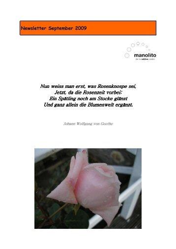 Newsletter September 2009 Nun weiss man erst, was Rosenknospe ...