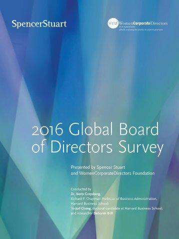 2016 Global Board of Directors Survey