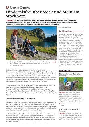 Erlenbach- Hindernisfrei über Stock und... - Region- Oberland - bernerzeitung.ch