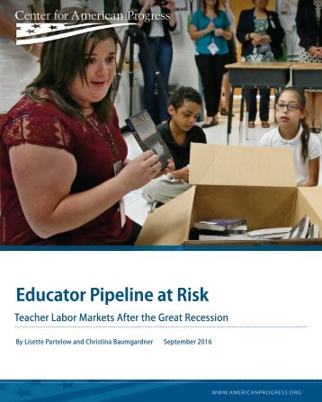 Educator Pipeline at Risk