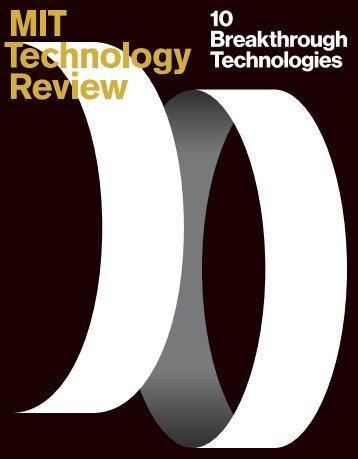 10 Breakthrough Technologies