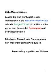 Bauernhausmuseum-Fuehrer.pdf - Online-Heimatkunde Muttenz