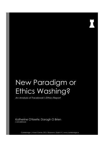 New Paradigm or Ethics Washing?