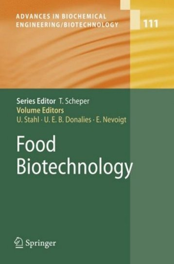 111 Advances In Biochemical Engineering/Biotechnology - E-Book´s