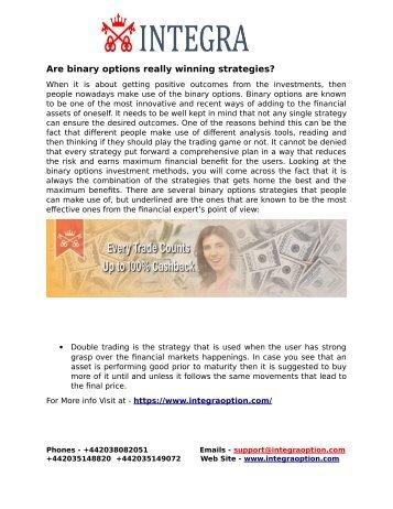 Are binary options really winning strategies?