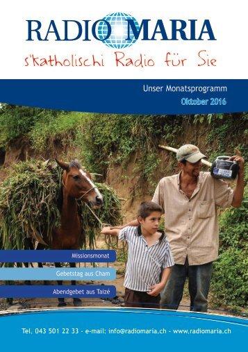 Radio Maria Schweiz - Oktober 2016