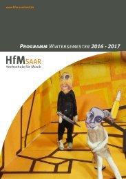 Programmheft HfM Saar WiSe 2016/17