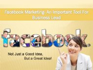 Facebook Marketing- Important For Business Lead
